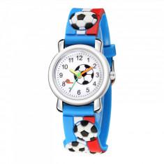 Ceas pentru copii, model minge - fotbal, culoare multicolor, model 3AAR