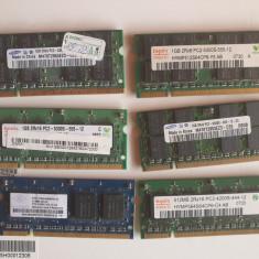 lot 4 placute ram pentru laptop  DDR2 de 1 Gb + 2 placute 512 mb - BONUS -