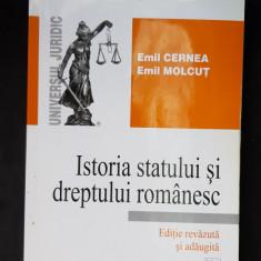 ISTORIA STATULUI SI DREPTULUI ROMANESC -CERNEA , MOLCUT