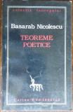 BASARAB NICOLESCU - TEOREME POETICE (prima editie in limba romana, 1996)