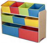 Cumpara ieftin Organizator jucarii cu cadru din lemn Deluxe Multicolor, Delta Children