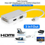 Adaptor 3in1 Mini DisplayPort HDMI + VGA+DVI Microsoft Surface Pro MacBook -190