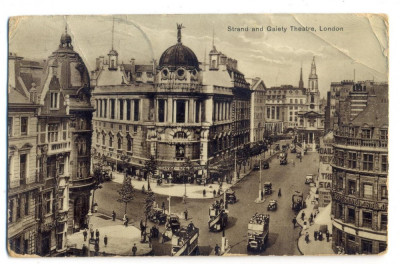 AD 1047 C. P. VECHE - STRAND AND GAIETY THEATRE, LONDON -1933-KOVACS ANDREI BUC. foto