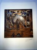 Cumpara ieftin Litografie SALVADOR DALI 50x65cm Bfk Rives
