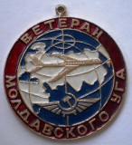 I.279 INSIGNA REPUBLICA MOLDOVA AVIATIE VETERAN 39mm, fără ac de prindere