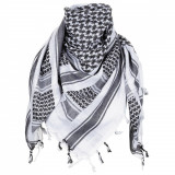 Cumpara ieftin Esarfa arab Shemagh, MFH, 100% bumbac, 115x110 cm, negru alb