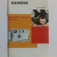 Manual de utilizare Camera foto QuickPic telefon Siemens, an 2002