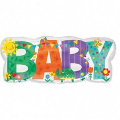 Balon folie figurina Baby Banner Cute Icons 83 x 35cm