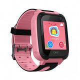 Cumpara ieftin Ceas Smartwatch Copii Techstar® Q9, Slot Cartela SIM, GPS Tracker, Buton Urgenta SOS, Monitorizare Live, Apelare, Roz