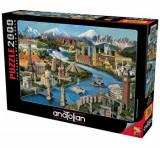Cumpara ieftin Puzzle Anatolian Popular Landmarks, 2000 piese