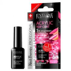 Tratament profesional pentru unghii Eveline Cosmetics acrylic top coat 12 ml