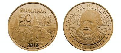 SV * Romania  BNR  50  BANI  2016  *  Iancu de Hunedoara     UNC     in capsula foto