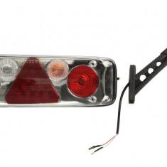 Stop lampa spate dreapta EASYCONN II for deschis bulb LED 24V triunghi reflector cu extensie brat LED soclu 7 pini spate KOGEL; KRONE