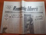 Romania libera 14 august 1990-festivalul filmului costinesti,nica leon,sapanta