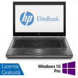 Laptop HP EliteBook 8470p, Intel Core i5-3210M 2.50GHz, 4GB DDR3, 320GB SATA, DVD-RW, 14 inch + Windows 10 Pro