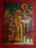 Ilustrata Voronet- Stefan cel Mare si Dna Voichita - Pictura