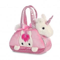 Unicorn in geanta roz - Fancy Pal - 20 cm, Aurora 32795