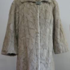Cumpara ieftin Mantou / haina din blana naturala de nurca argintie