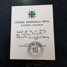 LEGIONARI-CARNET LEGIONAR-AJUTORUL LEGIONAR-BUCURESTI 30 NOIEMBRIE 1940