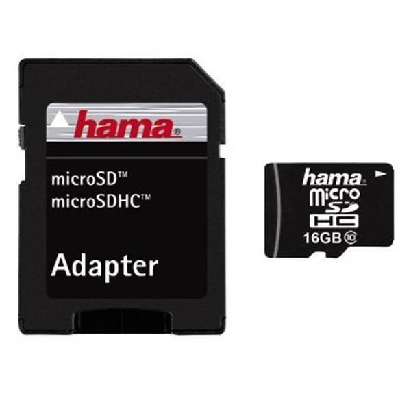 Card Hama Micro SDHC 16GB Clasa 10 cu adaptor