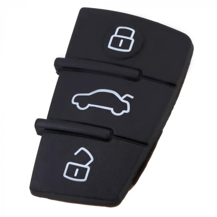 Cauciuc 3 butoane AU-103, compatibil telecomanda Audi AllCars