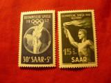 Serie SAAR 1952 J.O.Helsinki , 2 valori, Nestampilat