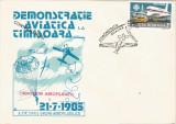 Romania, Demonstratie aviatica la Timisoara, plic necirculat