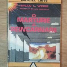 O MARTURIE A REINCARNARII de BRIAN L. WEISS , 1992