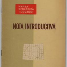 Harta geologica 1:200.000 Nota introductiva