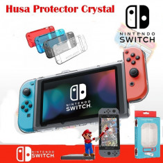 Protector Ultra Slim Transparenta Cu 4 culori Nintendo Switch