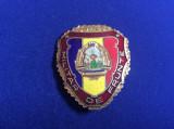 Insigna militară - Militar de frunte - variantă mare - stemă mare 1980