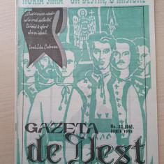 gazeta de vest iunie 1993-revista legionara-horia sima un destin,o misiune