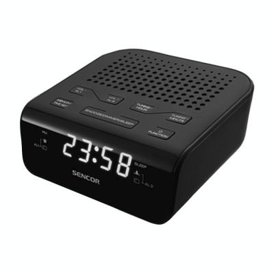 Radio cu ceas Sencor SRC 136 B Black foto