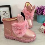 Cumpara ieftin Cizme roz imblanite ugg cu urechi pt fete copii 30 32