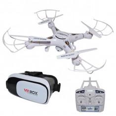 Drona RC cu Wi-fi, camera si ocheari VR