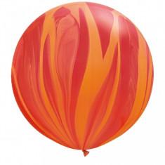 Balon Jumbo Super Agate Red Orange Rainbow 75 cm