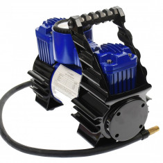 Compresor auto cu doi cilindri si alimentare la 12V, pentru SUV-uri, masini, biciclete, motociclete - CMP120