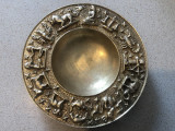 Scrumiera englezeasca,din bronz masiv,semne zodiacale