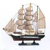 Cumpara ieftin Corabie cu panze 32 cm, macheta lemn vapor, 1:100