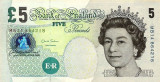 MAREA BRITANIE █ bancnota █ 5 Pounds █ 2012 █ P-391d █ UNC █ necirculata