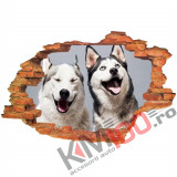 "Sticker ""Wall Crack"" Dog 4 - 120 x 80 cm"