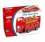 Set Autobuz turistic cu 9 figurine, New Classic Toys