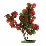 Plantă de acvariu – plastic, 28 cm frunze roşu- verzui