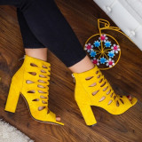 Sandale Odaria galbene elegante -rl