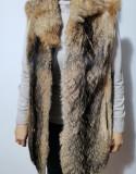 Vesta blana naturala de vulpe