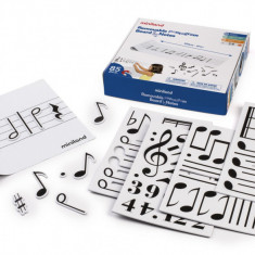 Set portativ audoadeziv cu 85 note muzicale magnetice