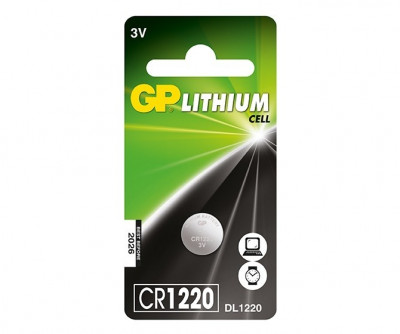 Baterie GP Lithium 3V CR1220-7C5 (Ø 12.5 x 2mm) foto