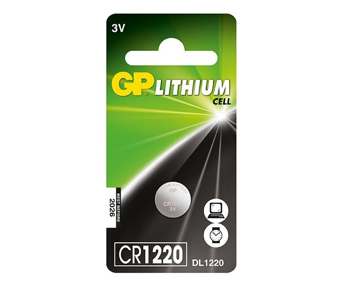 Baterie GP Lithium 3V CR1220-7C5 (Ø 12.5 x 2mm)