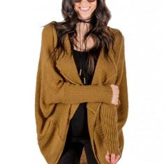 L656-991 Cardigan tricotat model lejer cu buzunare, L, M, M/L