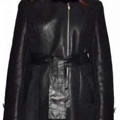 Cojoc dama, din blana naturala, marca Kurban, 1-01-95, negru , marime: 2XL